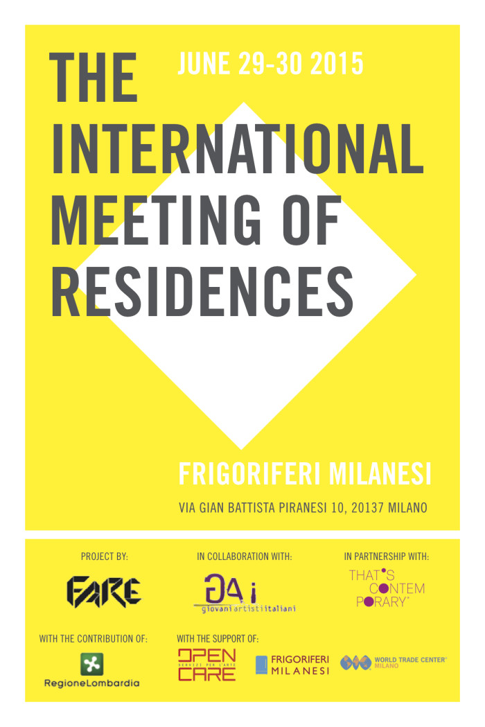 MEETING INTERNAZIONALE DELLE RESIDENZE