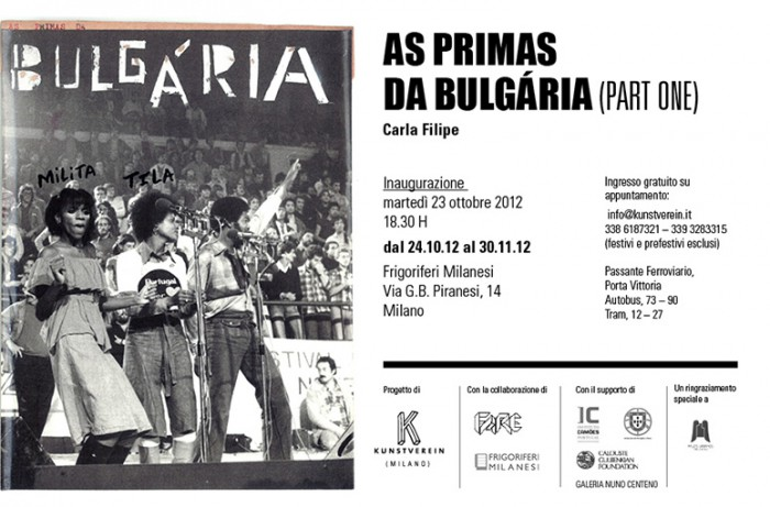 KUNSTVEREIN | AS PRIMAS DA BULGARIA